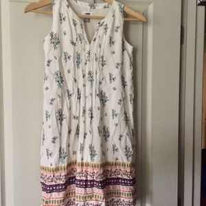 Old navy girls dress cream floral print Sz large